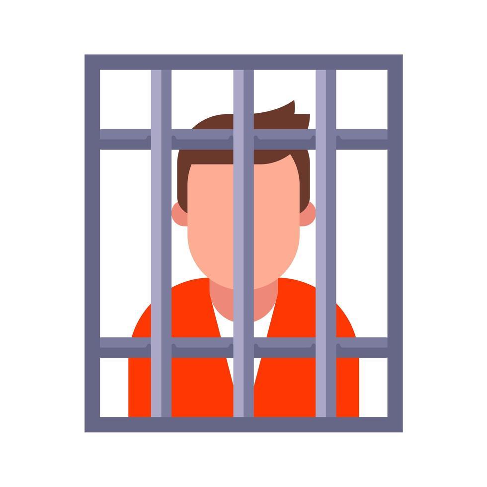 een crimineel in de gevangenis vector