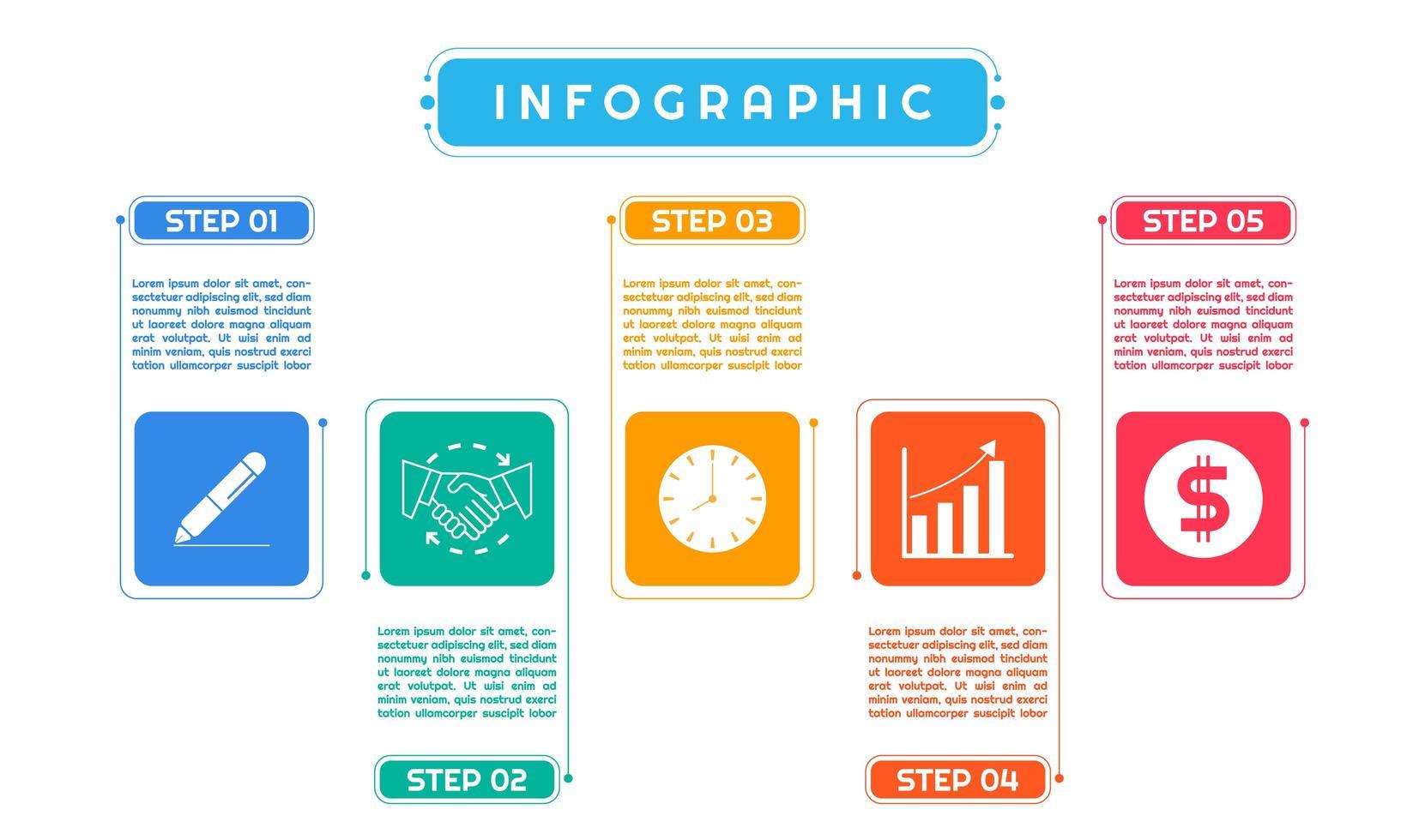 infographic kleurrijk kunst modern ontwerp vector
