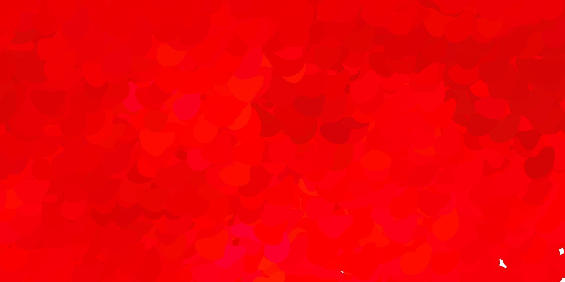 donkerrode vector achtergrond met willekeurige vormen.