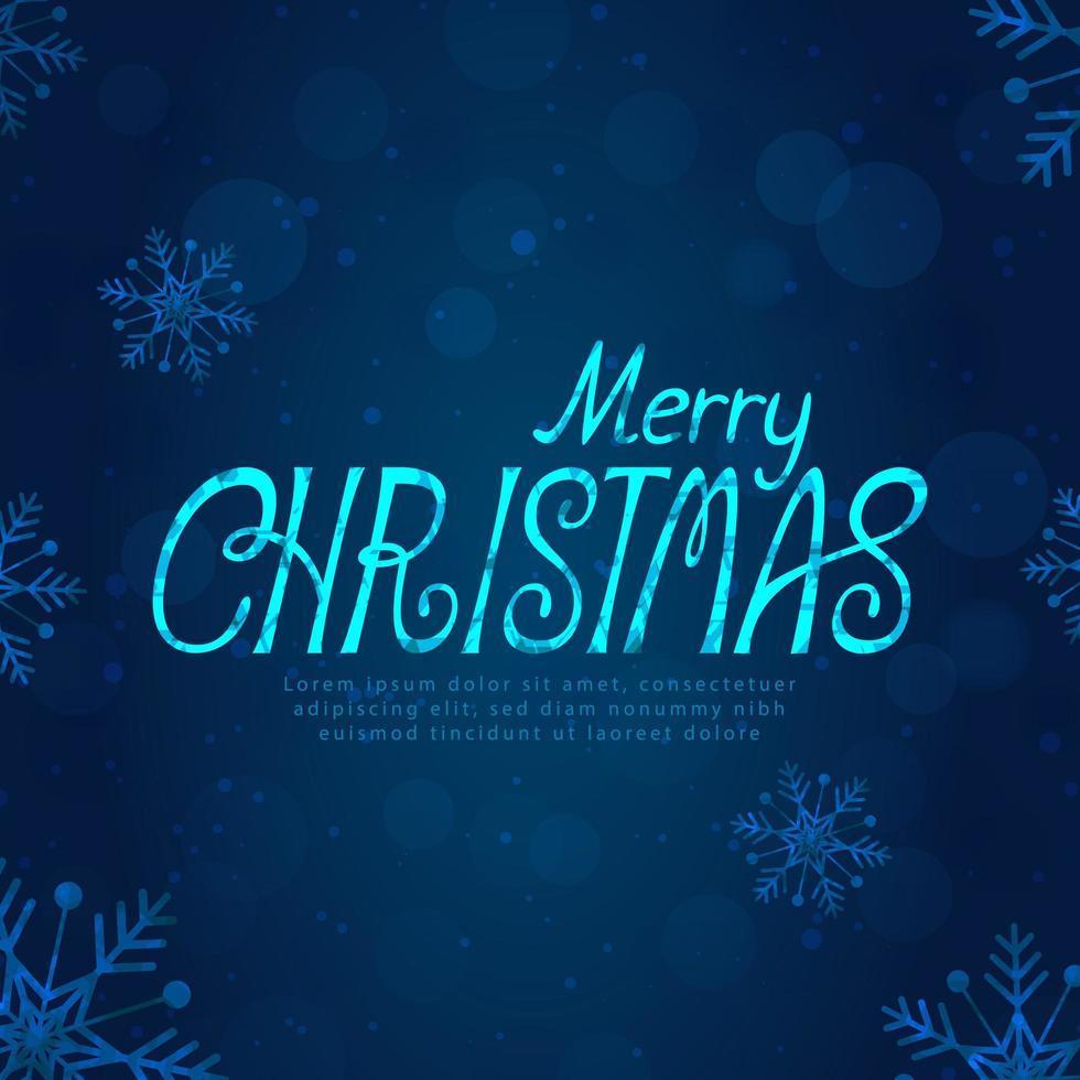vrolijk kerstfeest tekstontwerp vector
