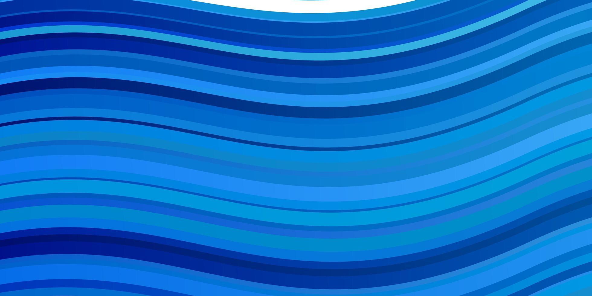 lichtblauwe vectorachtergrond met gebogen lijnen. vector