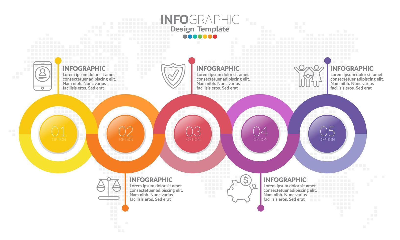 infographic elementen voor inhoud, diagram, stroomdiagram, stappen, onderdelen, tijdlijn, workflow, grafiek. vector