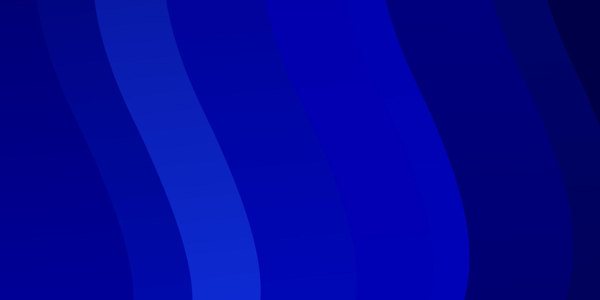donkerblauwe vectorlay-out met krommen. vector