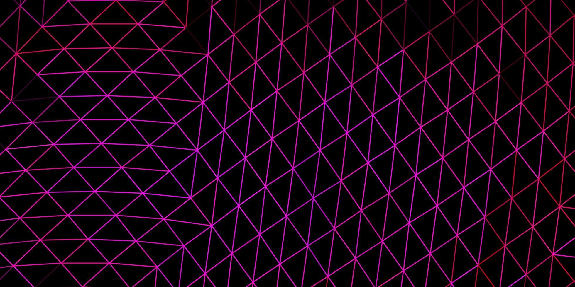 donkerroze vector driehoek mozaïek sjabloon.