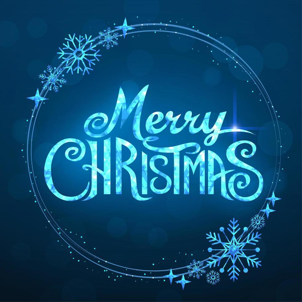 vrolijk kerstfeest tekst vector