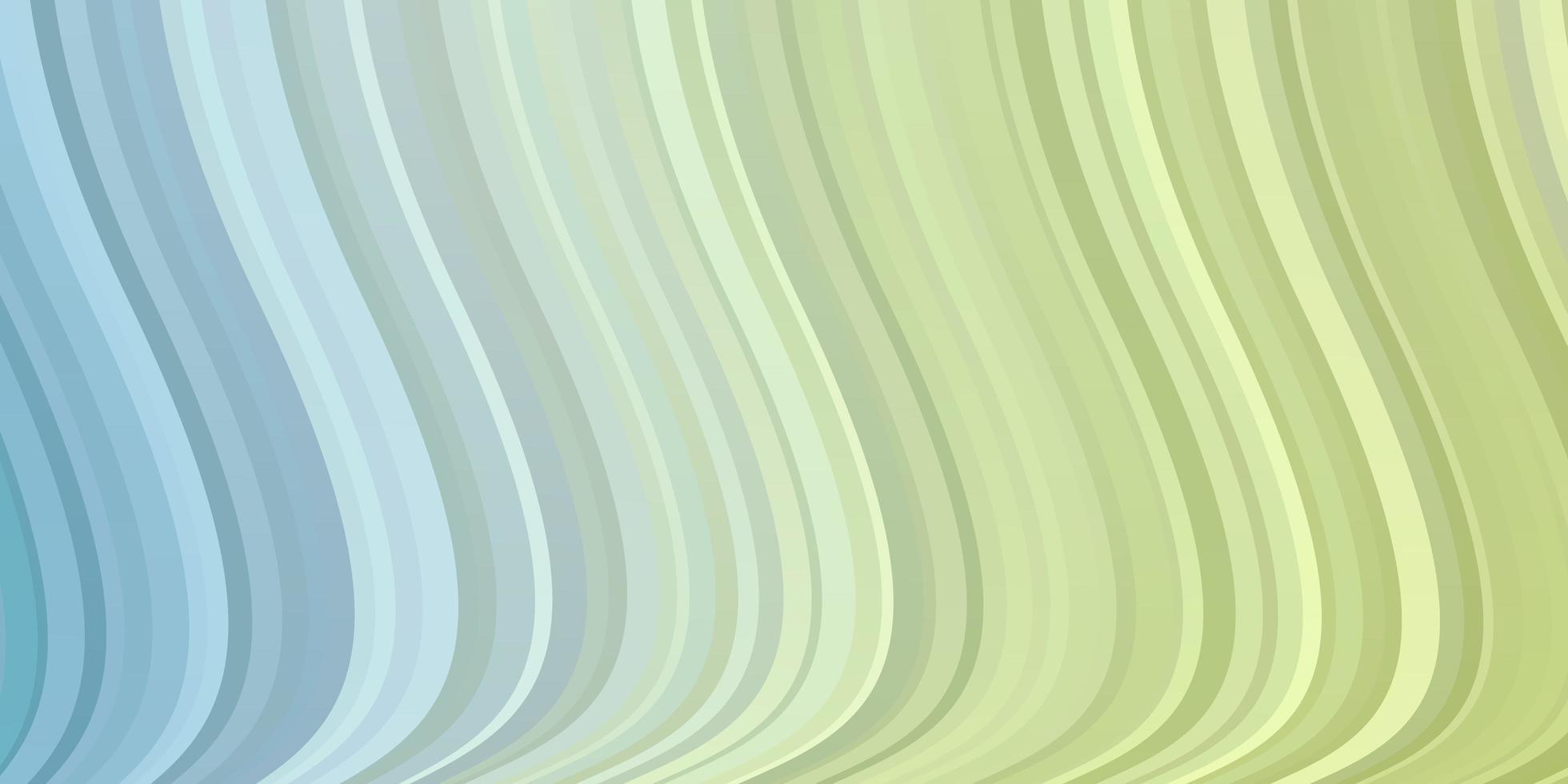 lichtblauwe, groene vectorachtergrond met krommen. vector