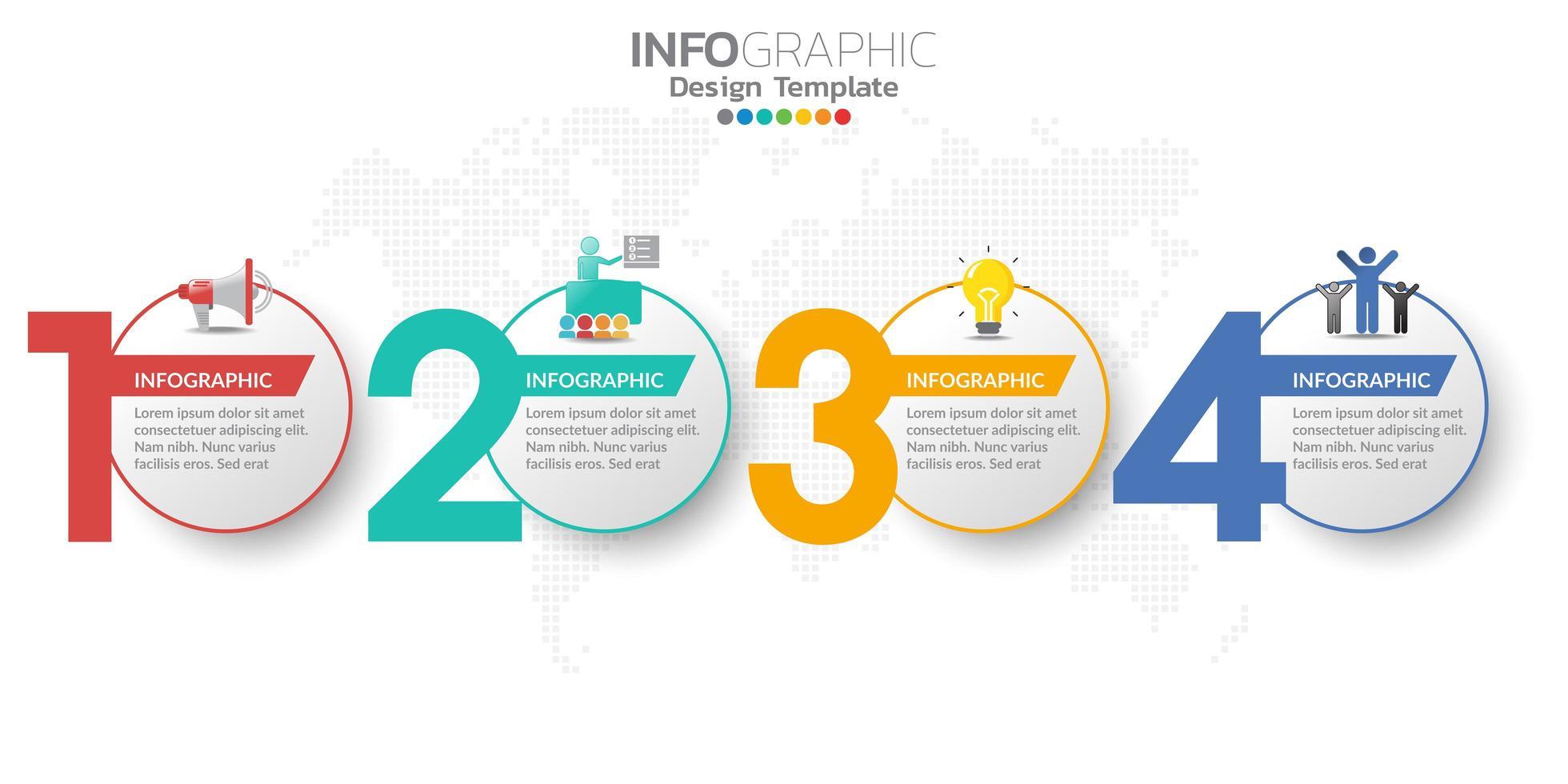 digitale online marketingbanner met pictogrammen voor zakelijke inhoud. vector