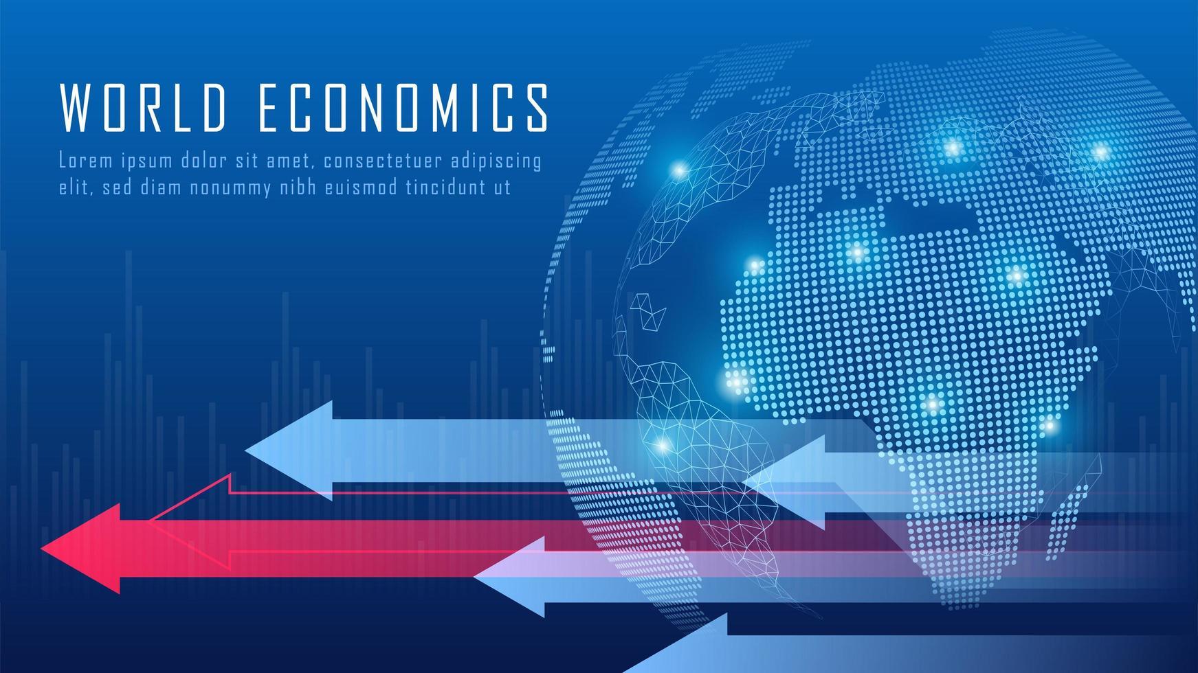 globaal financieel in grafisch concept vector