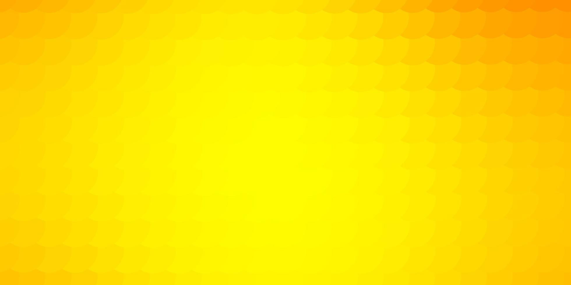 licht oranje vector patroon met bollen.