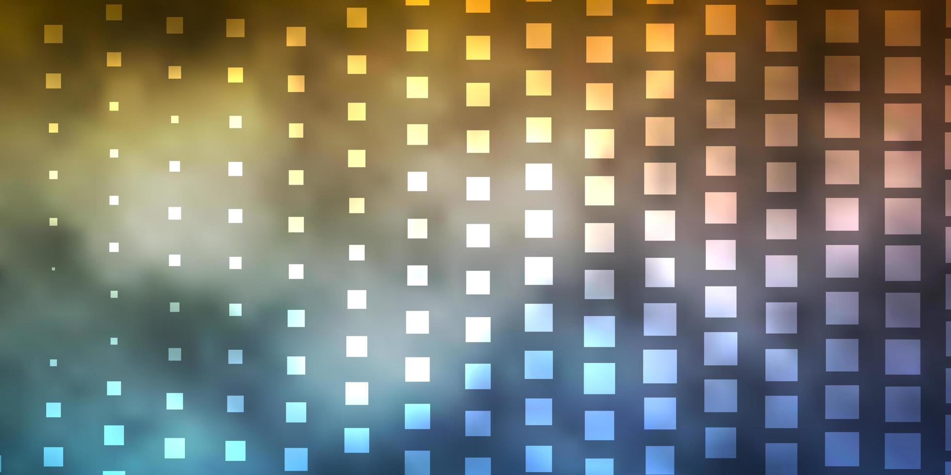 lichtblauwe, rode vectorachtergrond met rechthoeken. vector