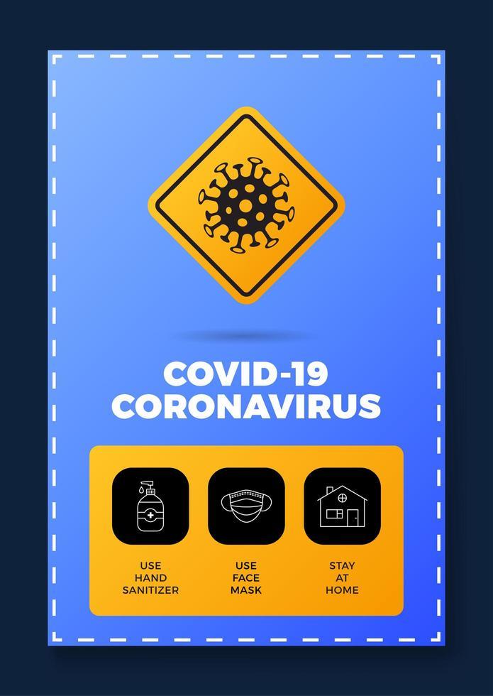 preventie van covid-19 alles in één pictogramposter vector
