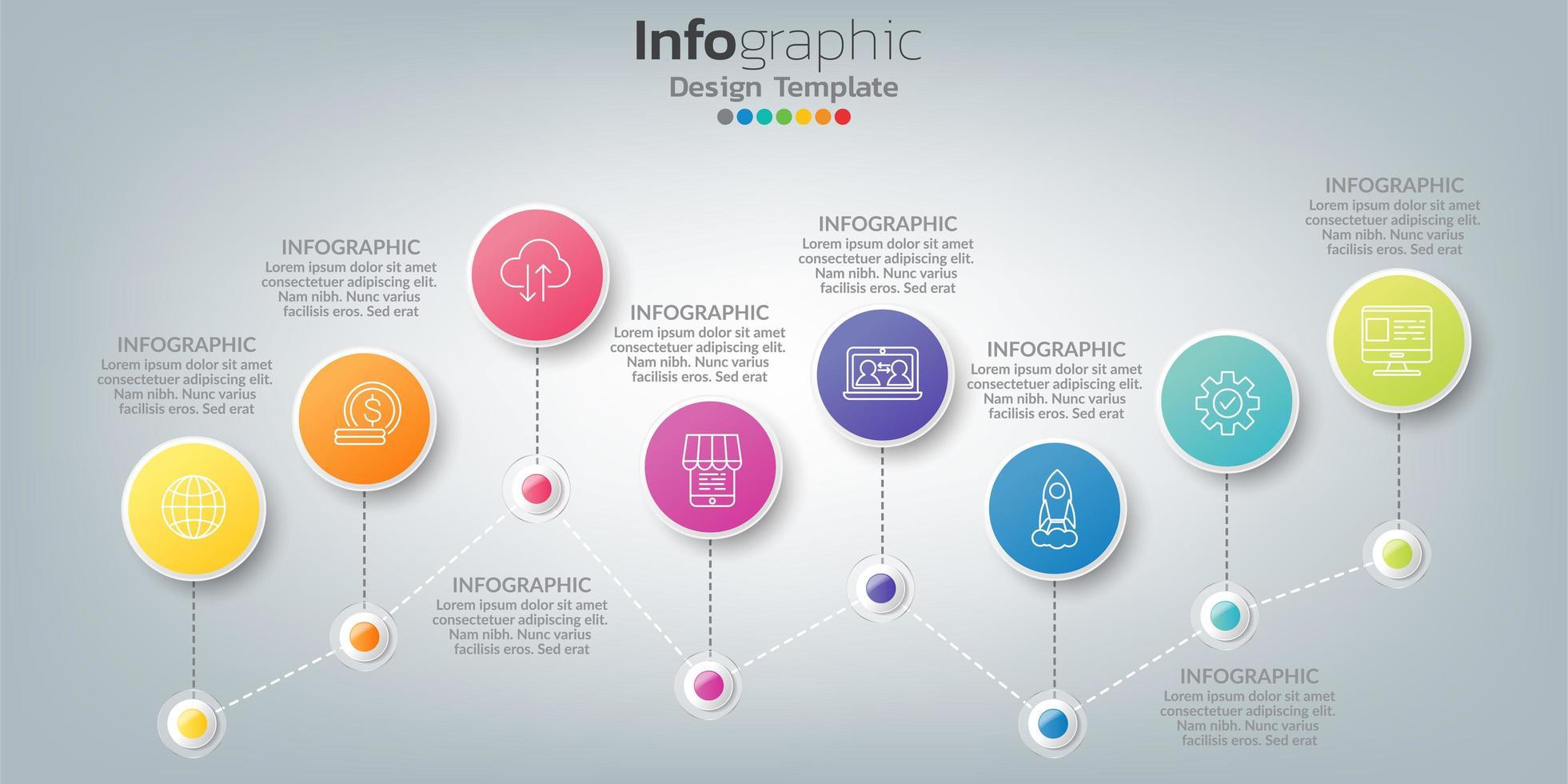 infographic in bedrijfsconcept met 8 opties, stappen of processen. vector