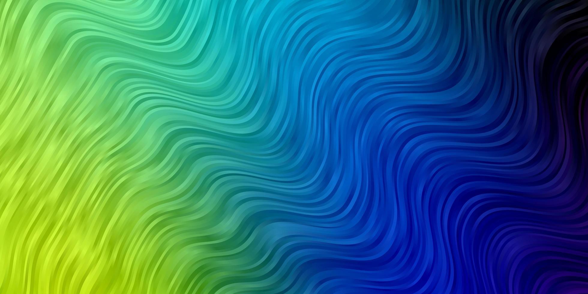 licht veelkleurig vectorpatroon met wrange lijnen. vector