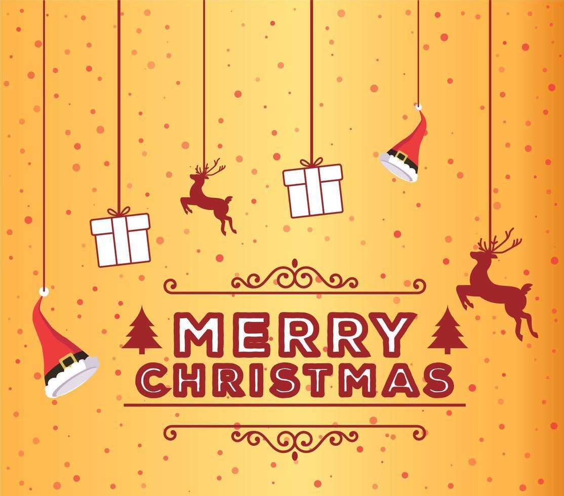 merry christmas design achtergrond vector