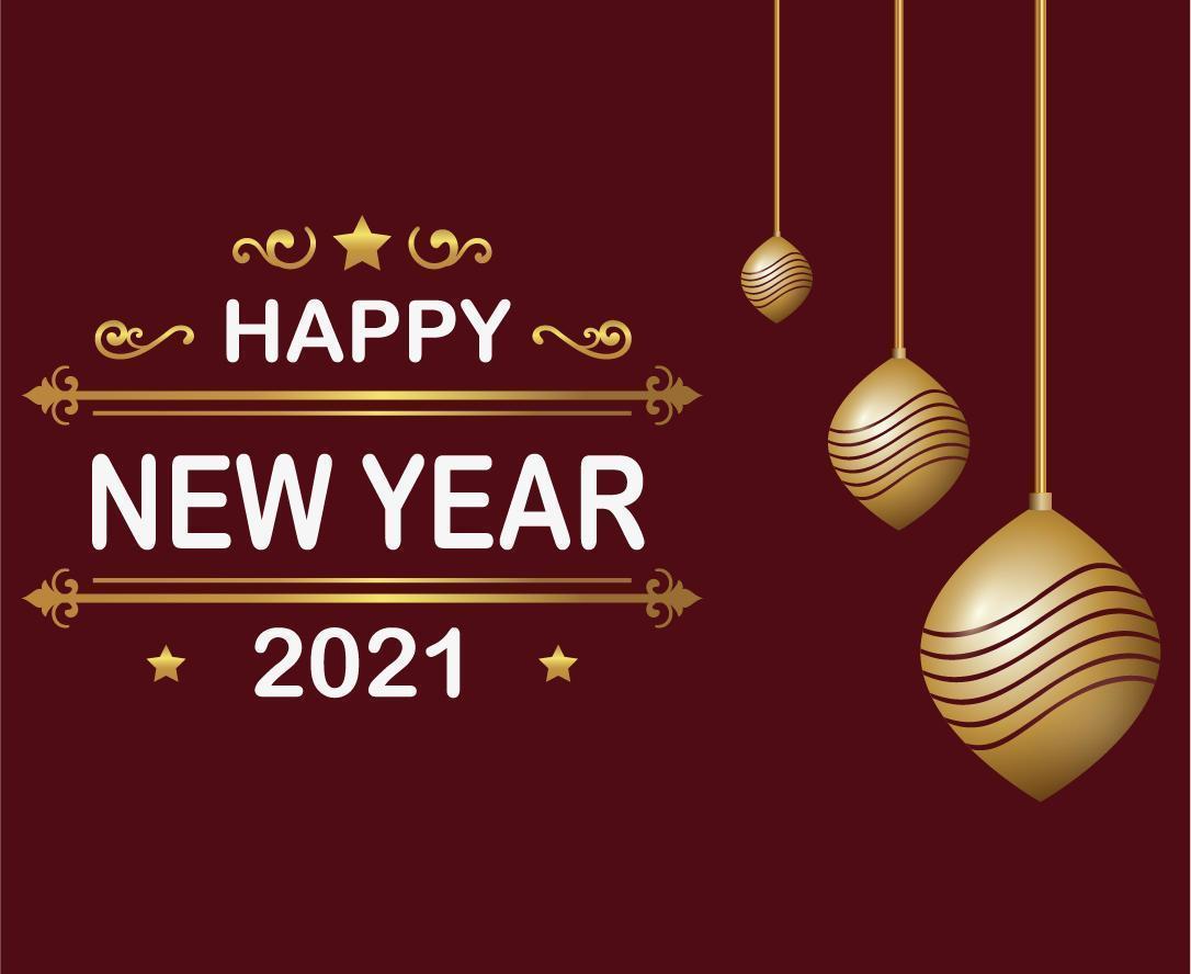 gelukkig nieuwjaar 2021 vector