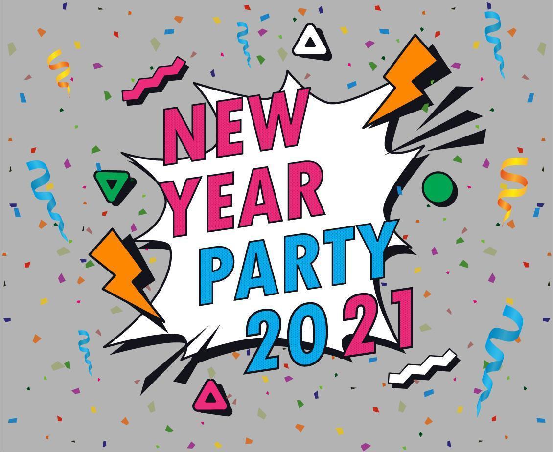 abstract 2021 gelukkig nieuwjaar vector