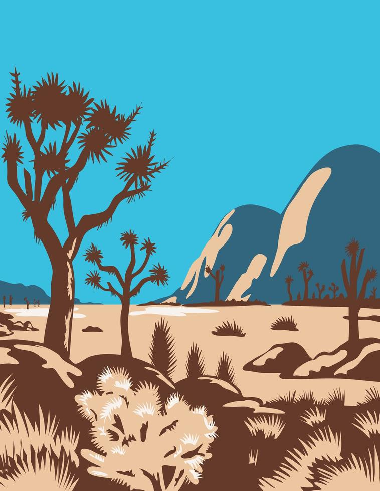 Californië parklandschap poster vector