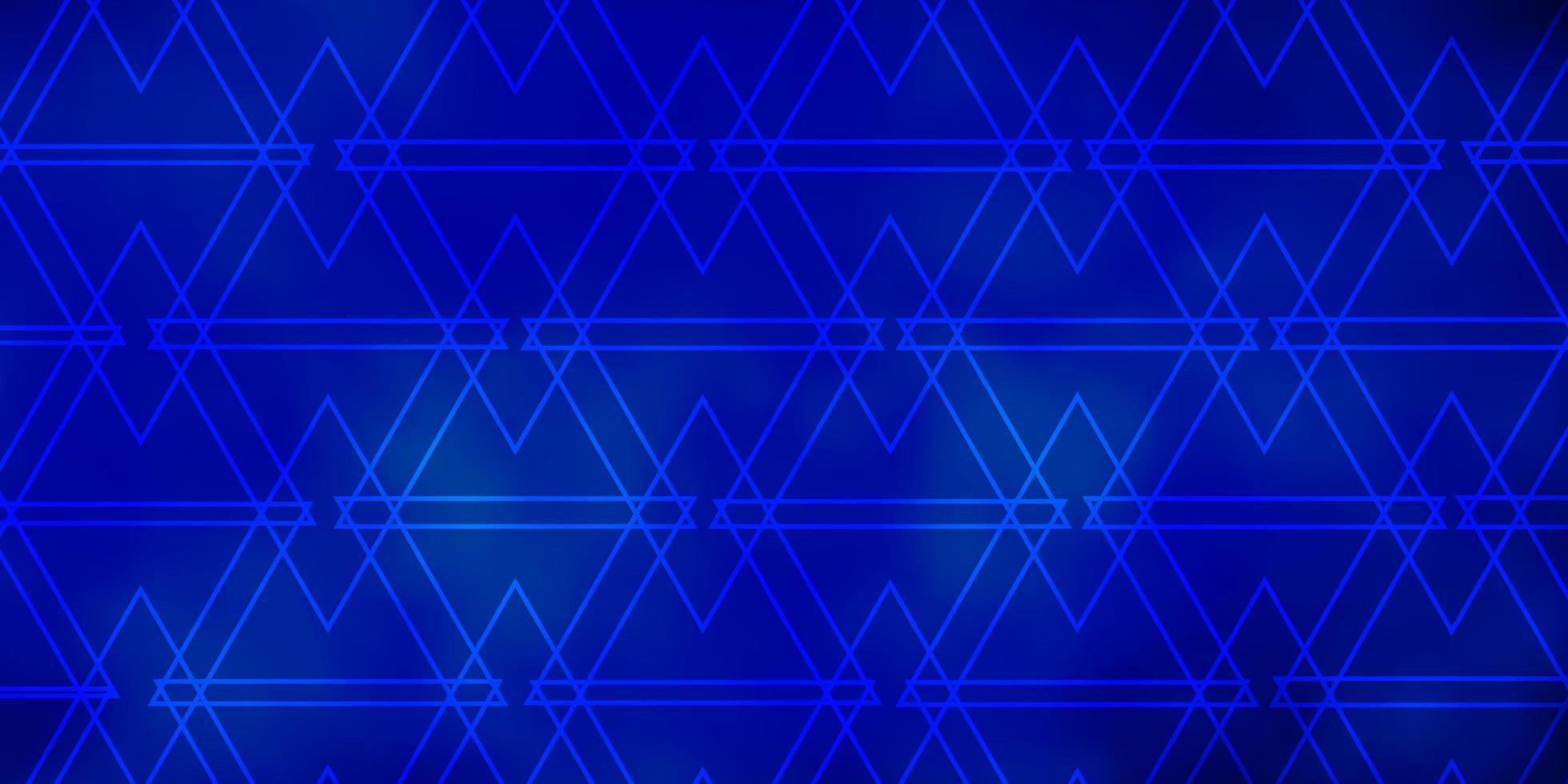 donkerblauwe vectorlay-out met lijnen, driehoeken. vector