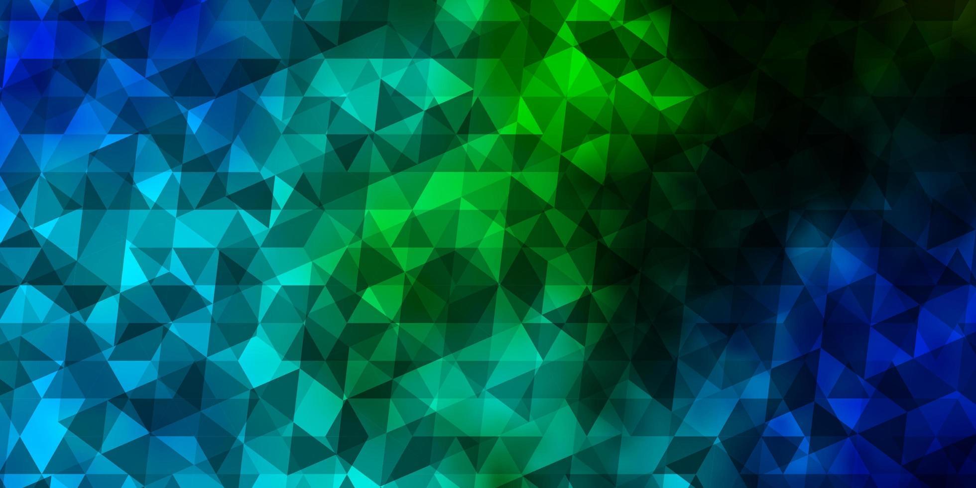 lichtblauwe, groene vectorlay-out met lijnen, driehoeken. vector