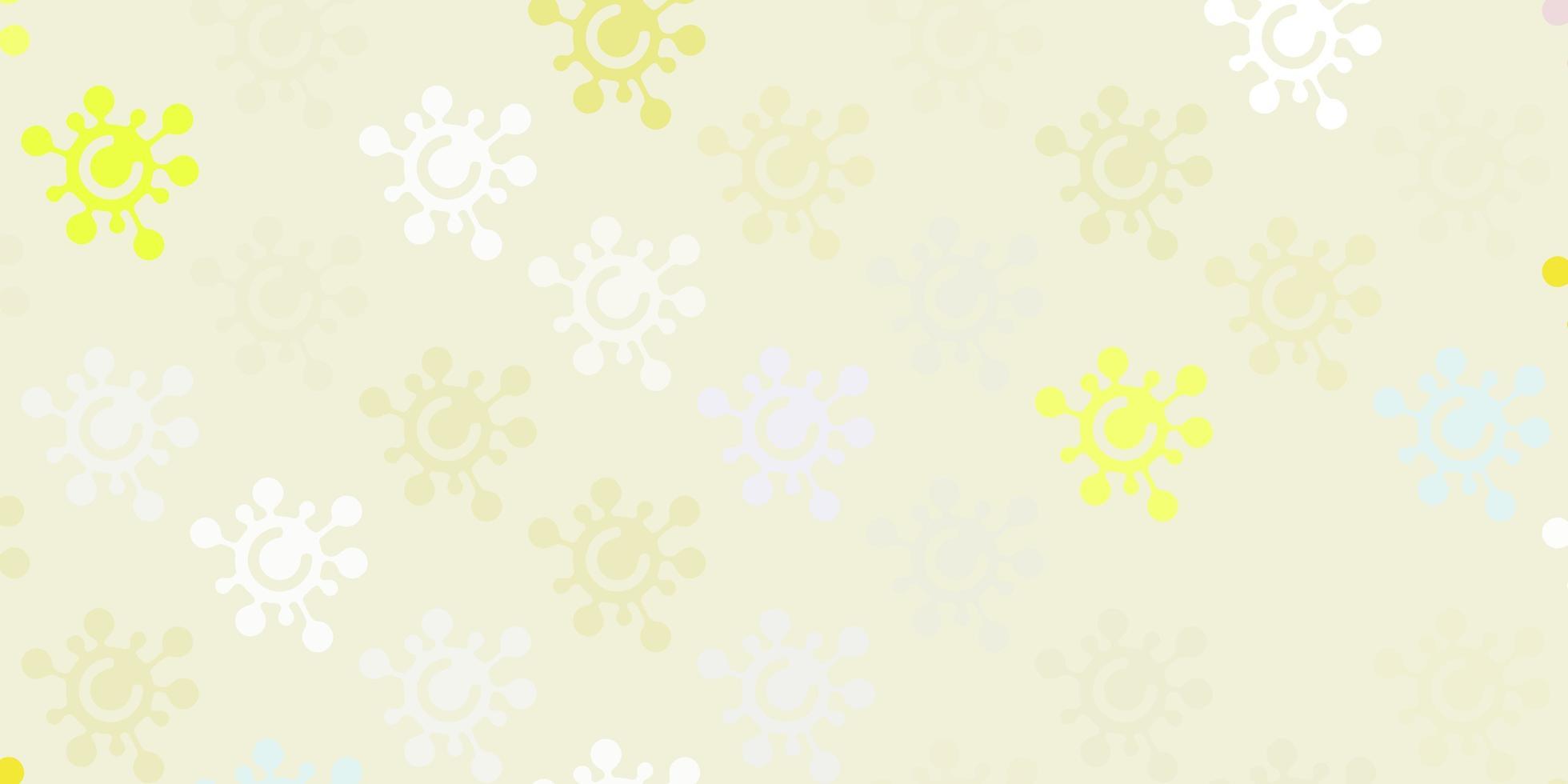 licht veelkleurige vectortextuur met ziektesymbolen vector
