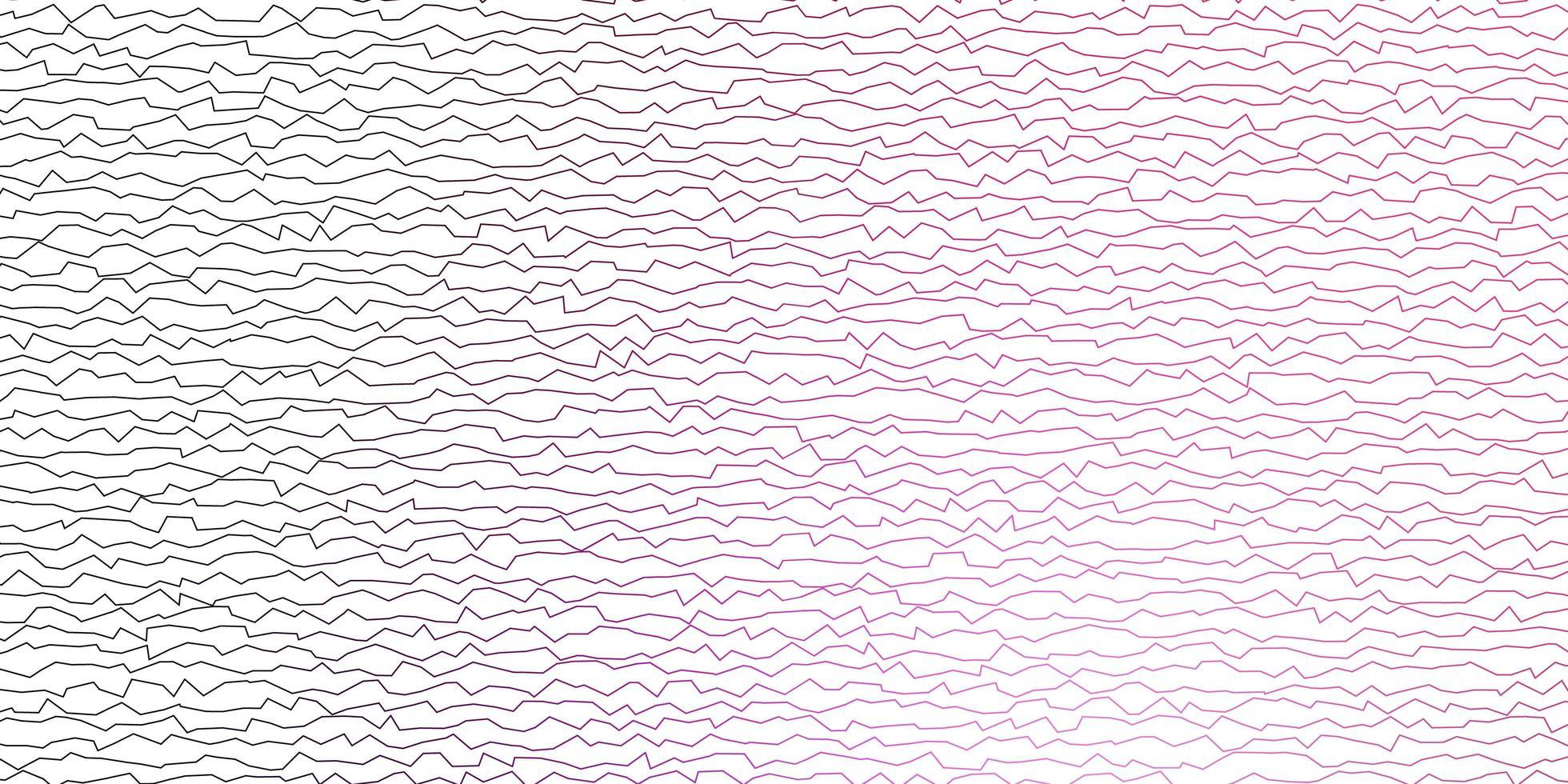 donkerpaarse, roze vectorachtergrond met gebogen lijnen. vector