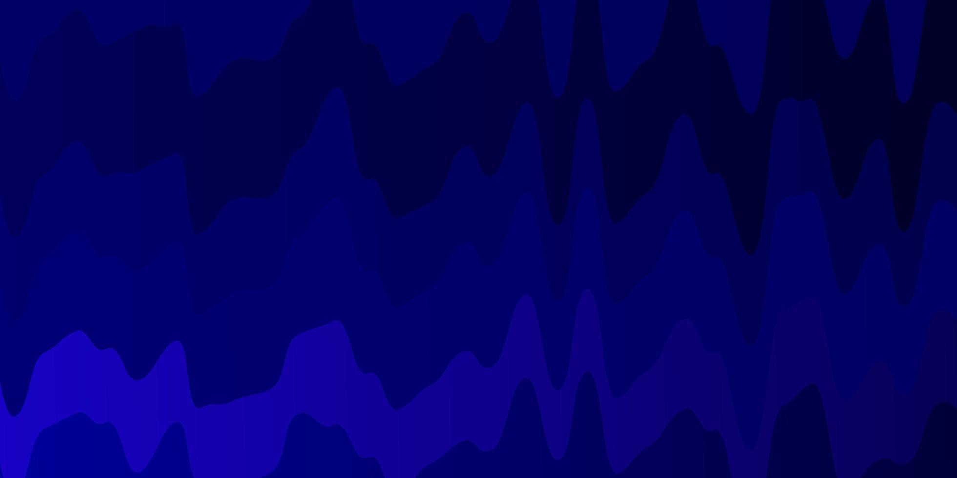 donkerroze, blauwe vector sjabloon met gebogen lijnen.