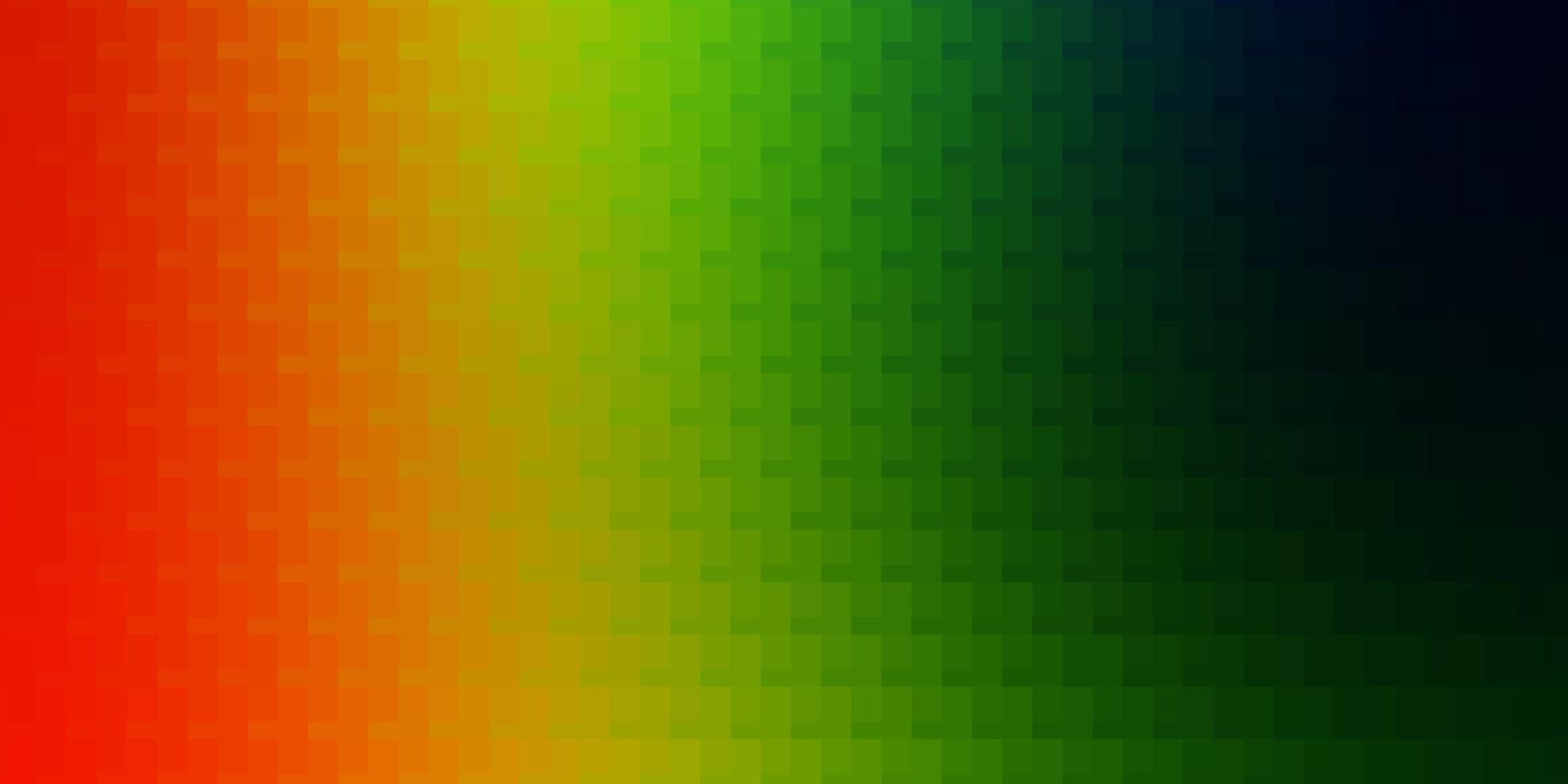licht veelkleurig vectorpatroon in vierkante stijl. vector