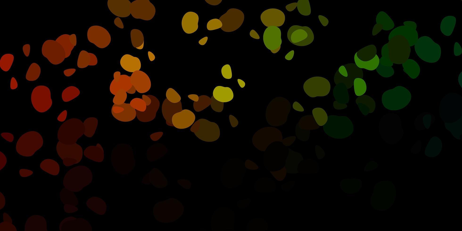 donkergroen, geel vectorpatroon met abstracte vormen. vector