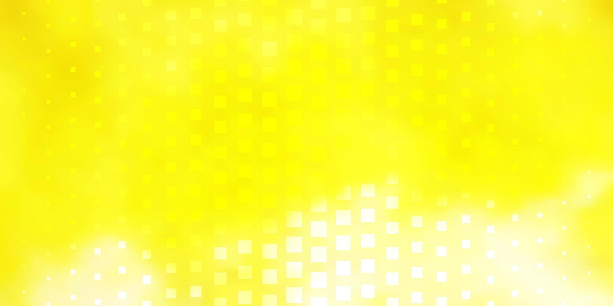 lichtgeel vectorpatroon in vierkante stijl. vector
