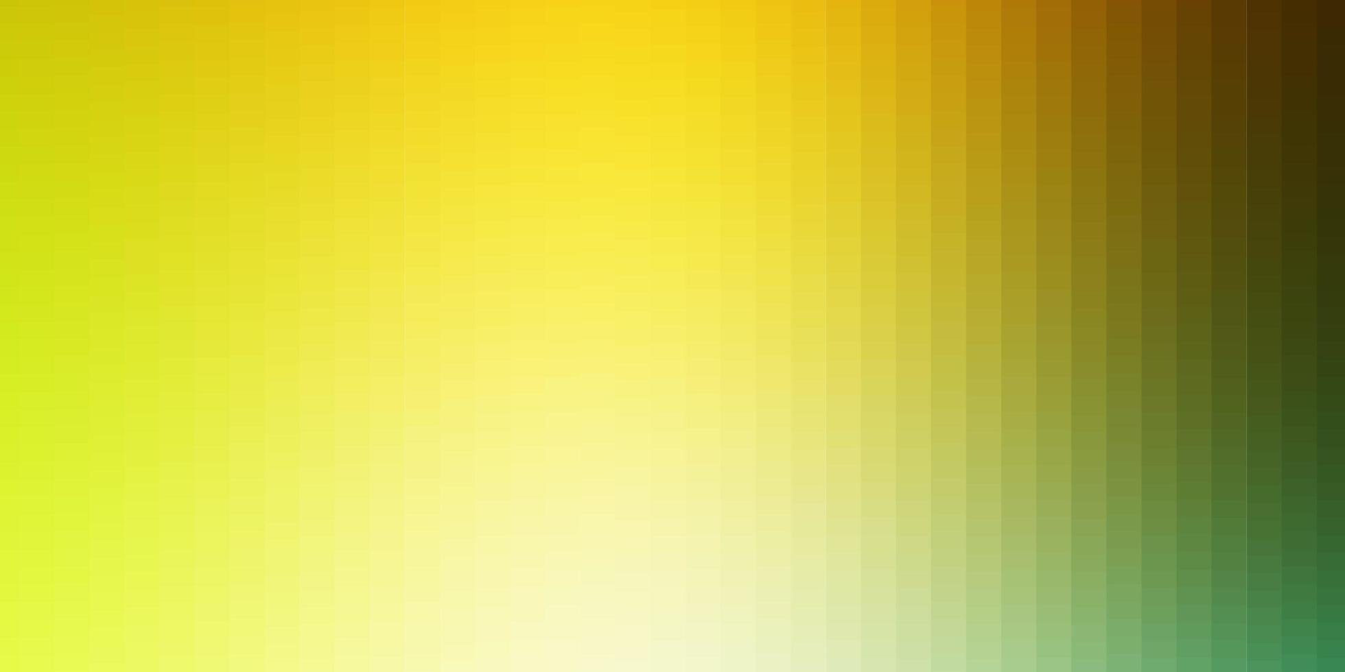 lichtgroen, geel vectorpatroon in vierkante stijl. vector