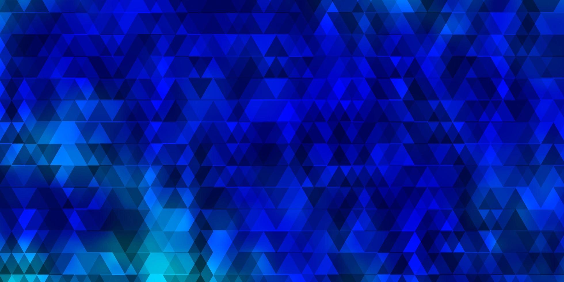 lichtblauw vectorpatroon met lijnen, driehoeken. vector