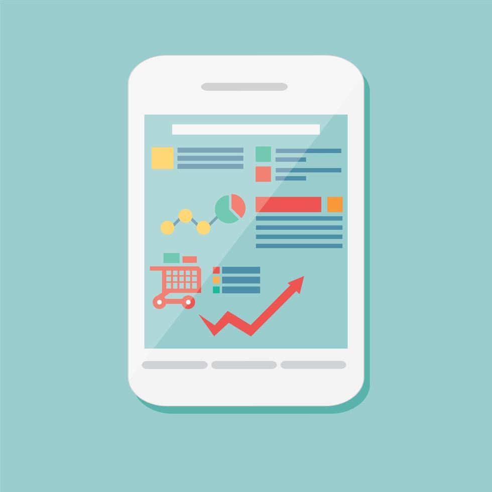 platte pictogram mobiele mobiele smartphone, elektronisch apparaat vector