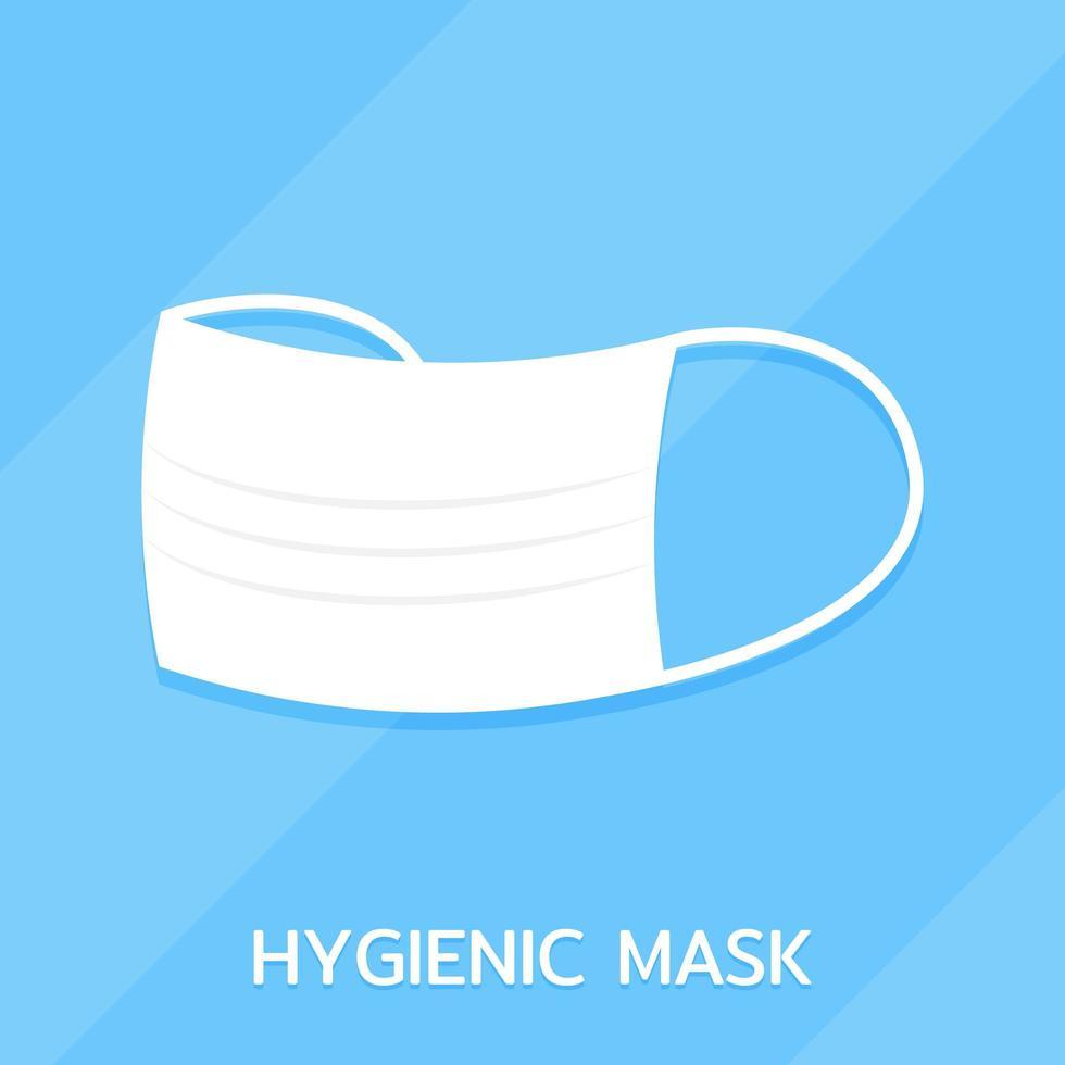 hygiënisch gezichtsmasker plat ontwerp pictogram vector