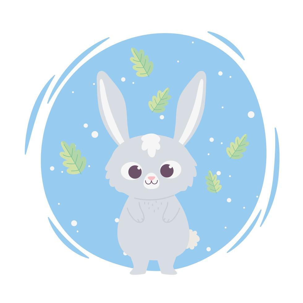 schattig cartoon dier schattig wild karakter klein konijn vector