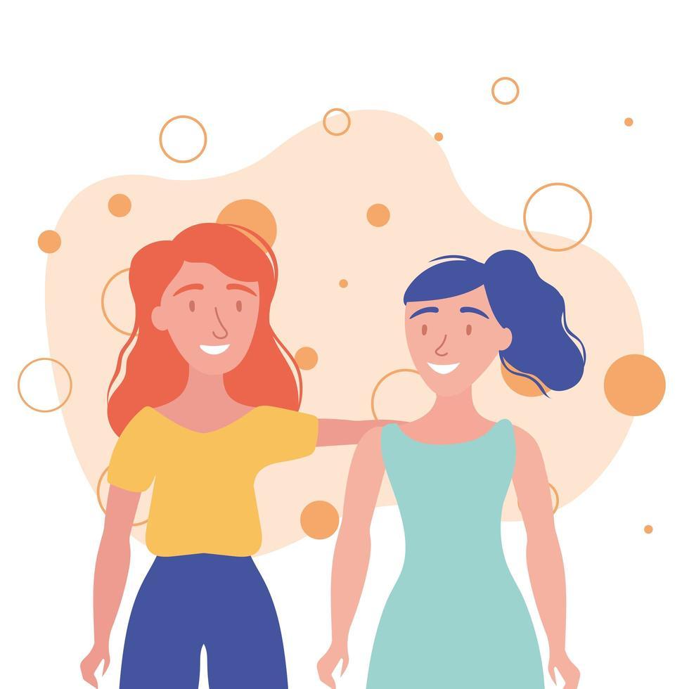 vrouwen avatars vrienden vector ontwerp