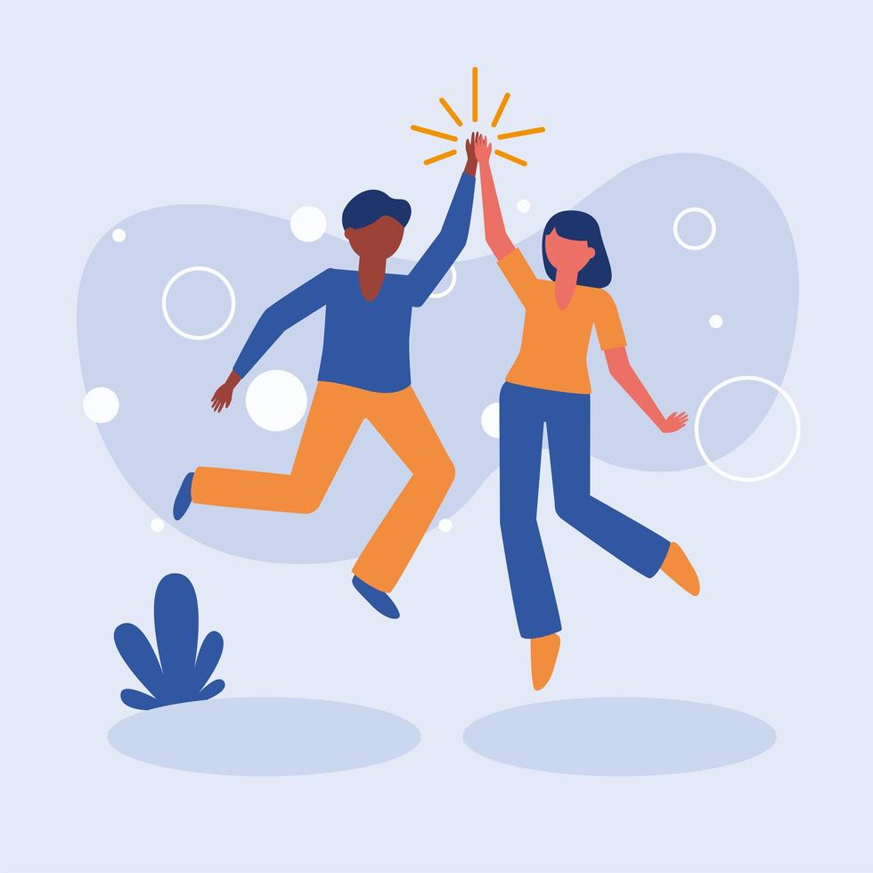 vrouw en man avatar vrienden vector ontwerp