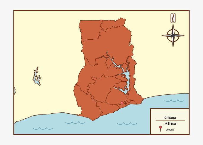 Ghana kaart illustratie vector