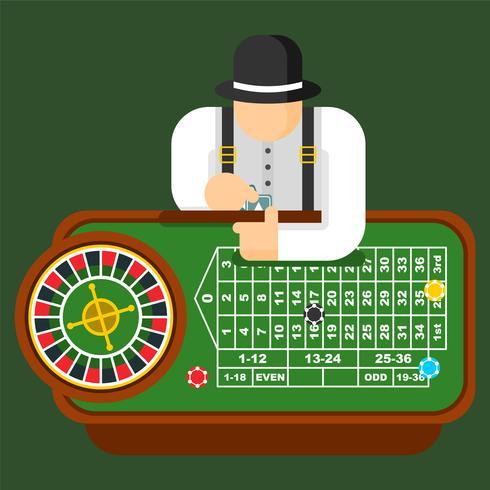 Roulette tabel vectorillustratie vector