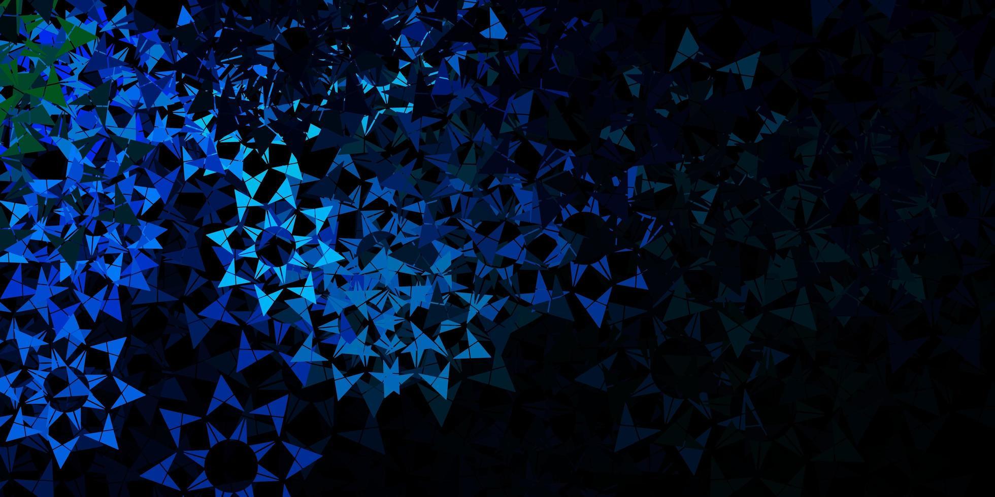 donkerblauwe vectorachtergrond met veelhoekige stijl. vector