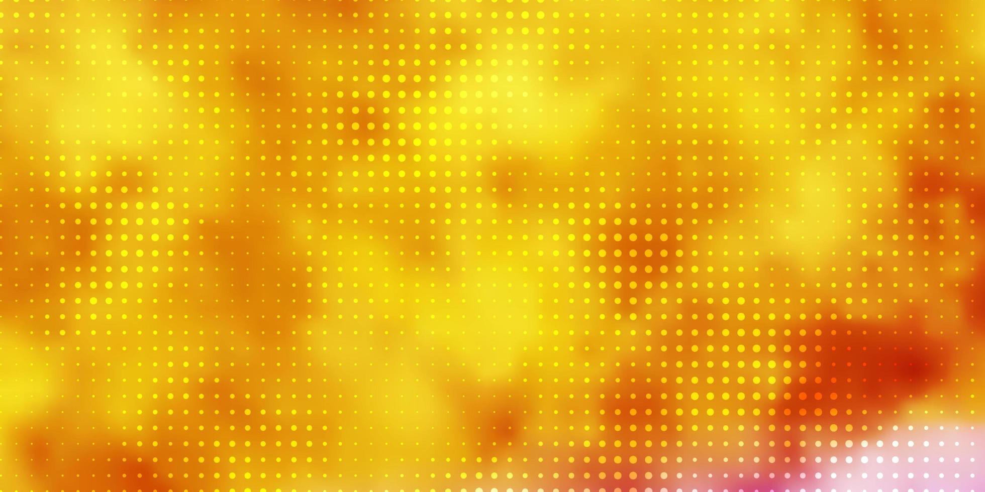 lichtroze, geel vectormalplaatje met cirkels. vector