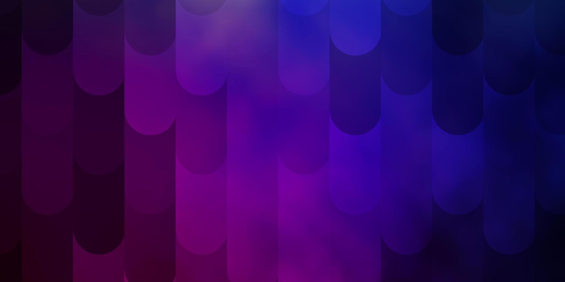 donkerblauwe, rode vectorachtergrond met lijnen. vector