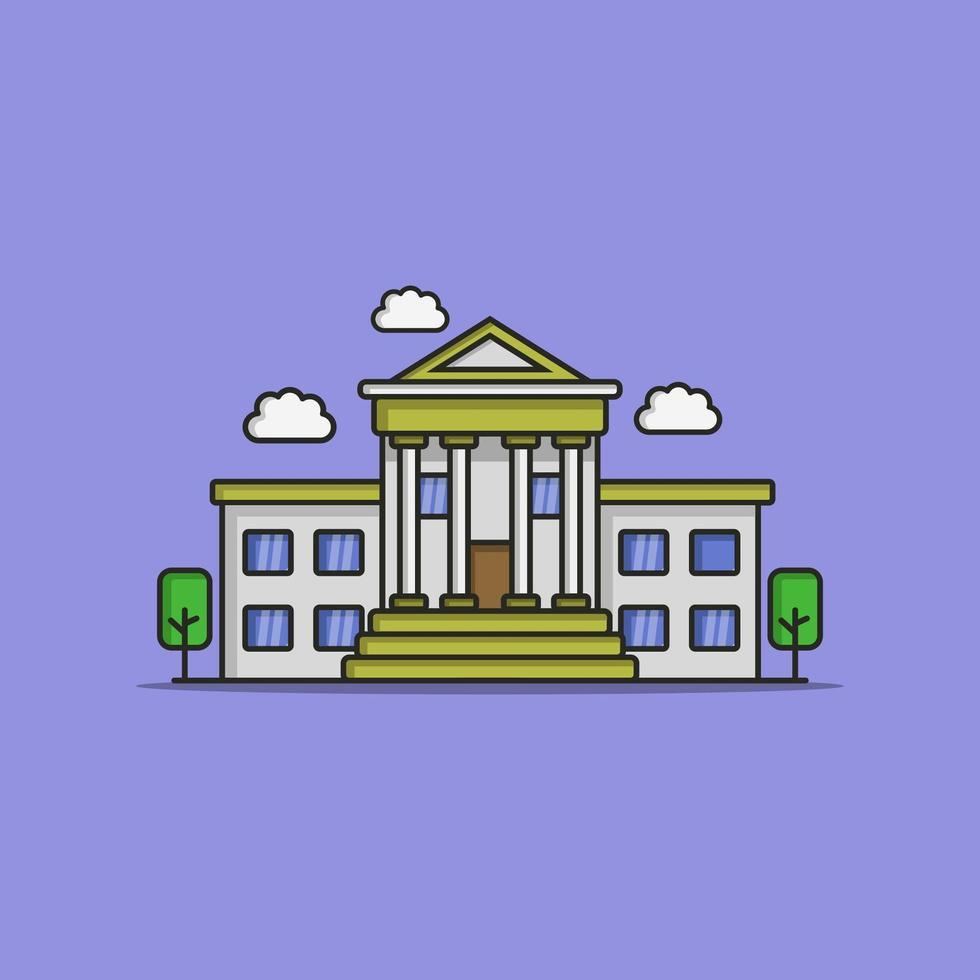 bank geïllustreerd in vector op witte achtergrond