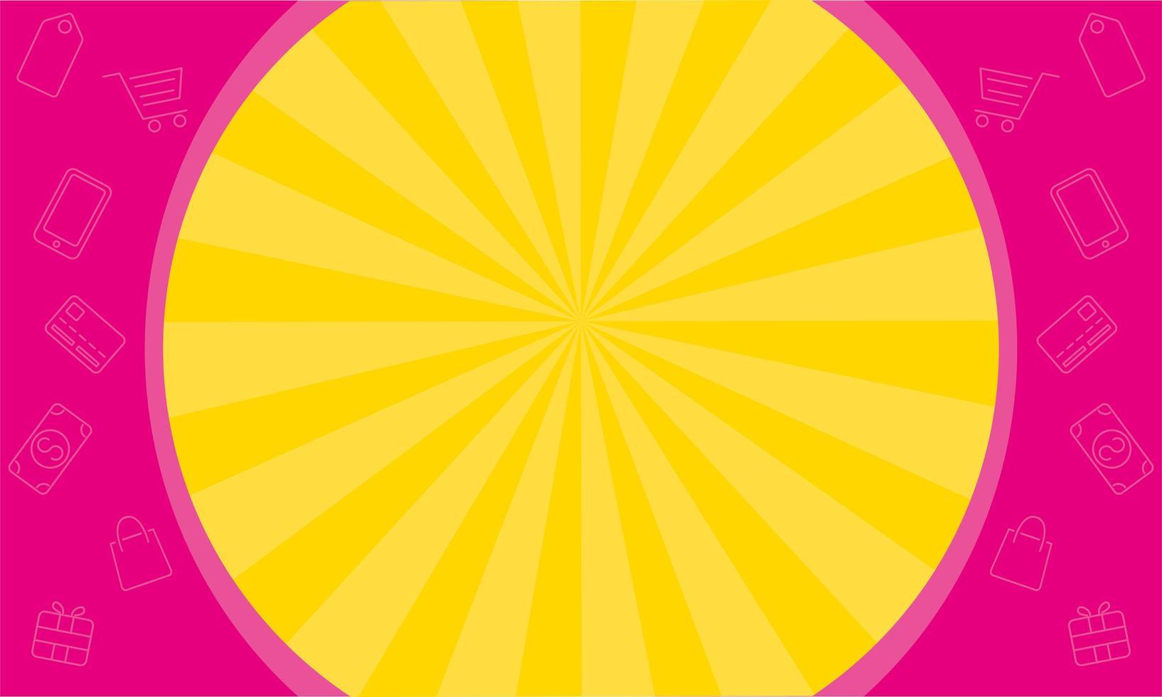 circulaire frame verkoop banner kleuren poster vector