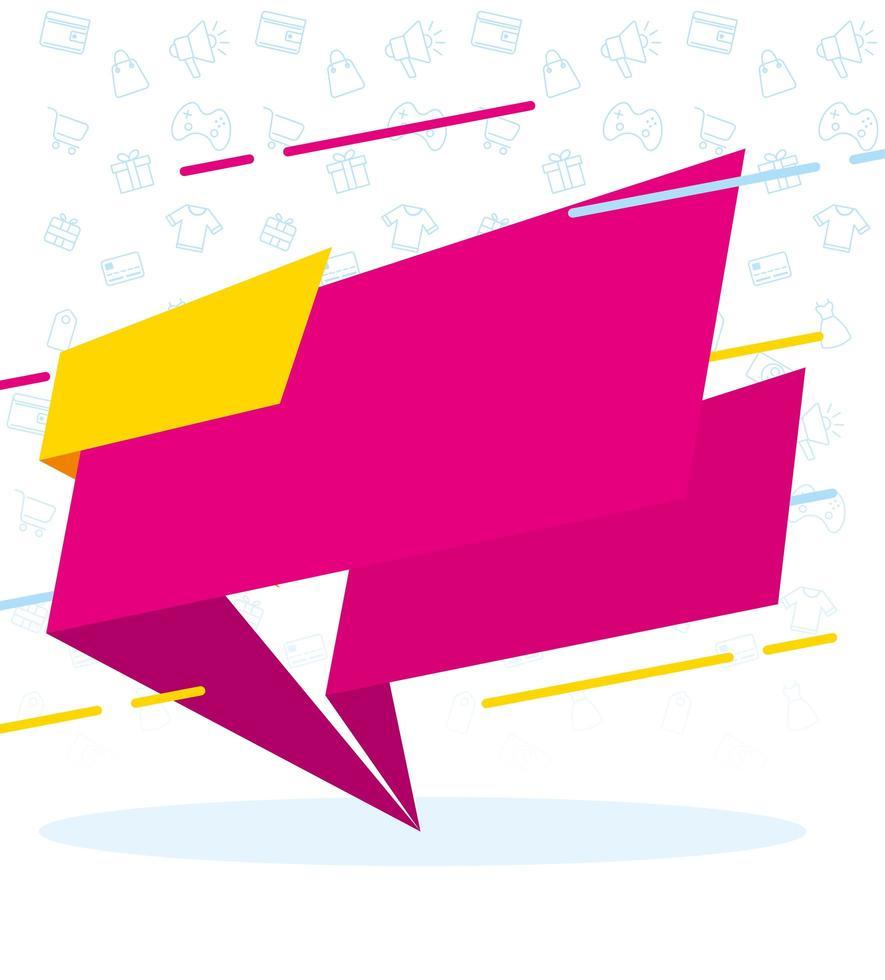 lint verkoop banner kleuren poster vector