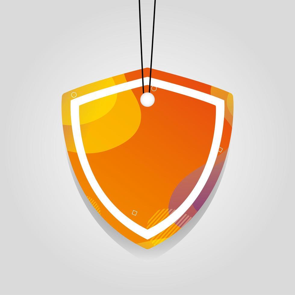 oranje commerciële tag met levendige kleuren vector
