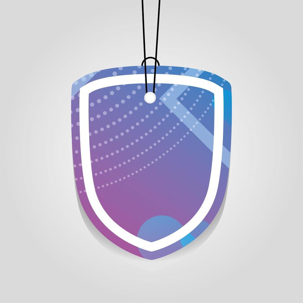 commerciële tag met paarse levendige kleur vector