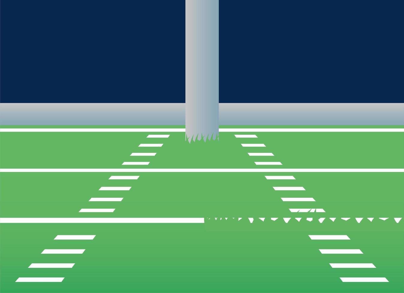 Amerikaans voetbalveld scène pictogram vector