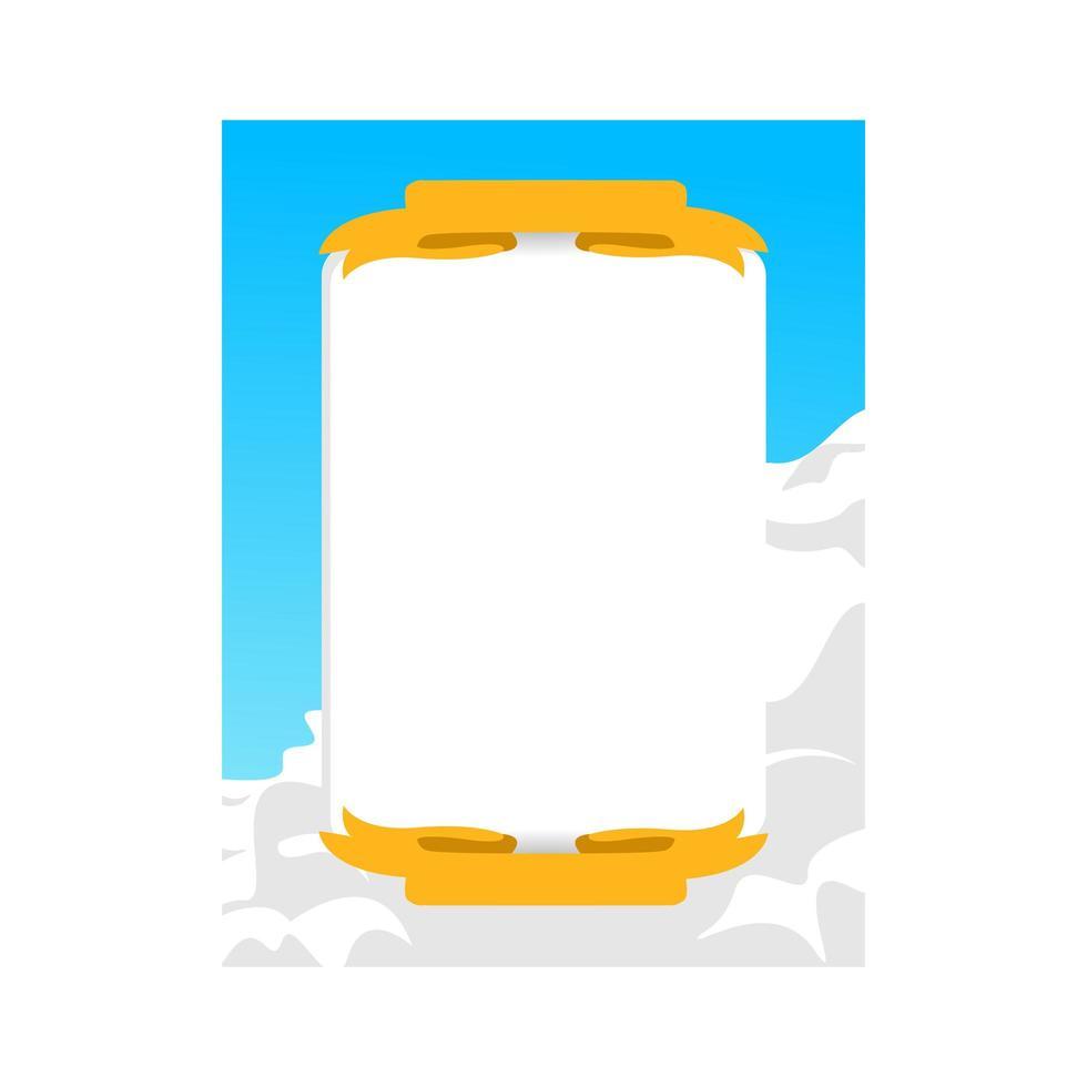 lucht en wolken frame foto sjabloonontwerp voor afdrukken vector