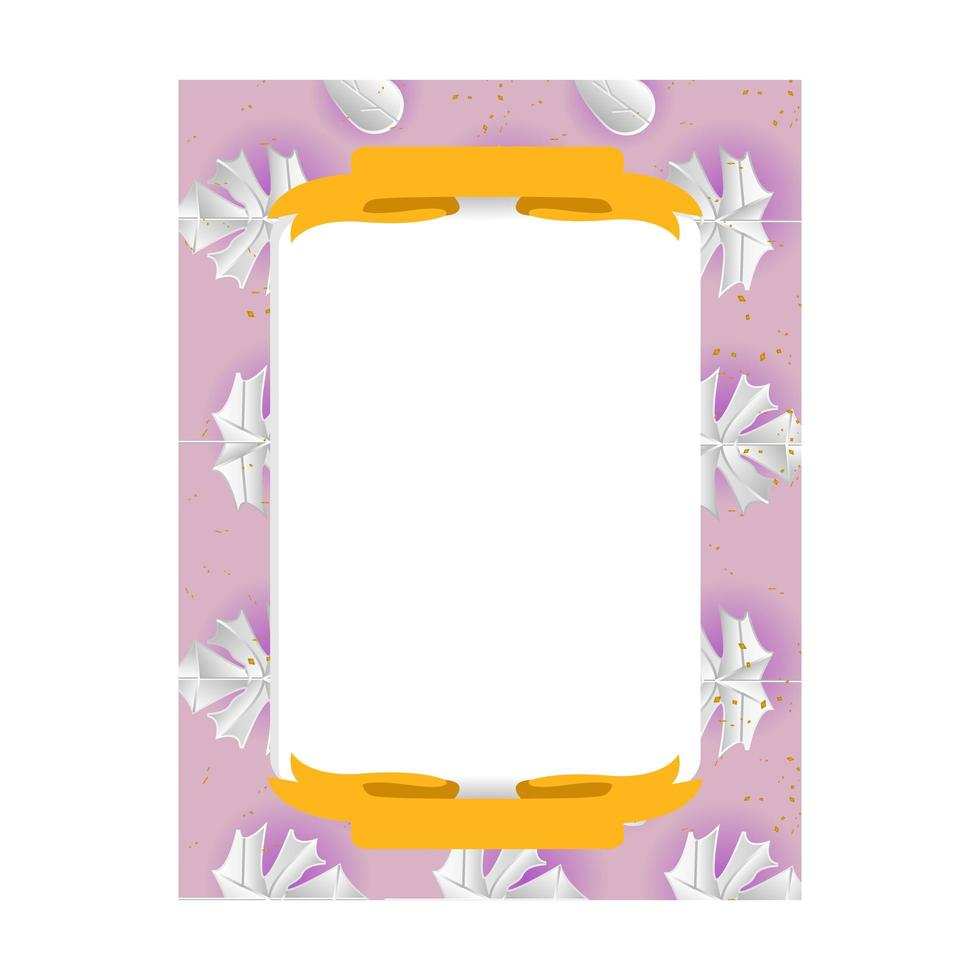 esdoorn bladeren frame foto sjabloonontwerp voor afdrukken vector