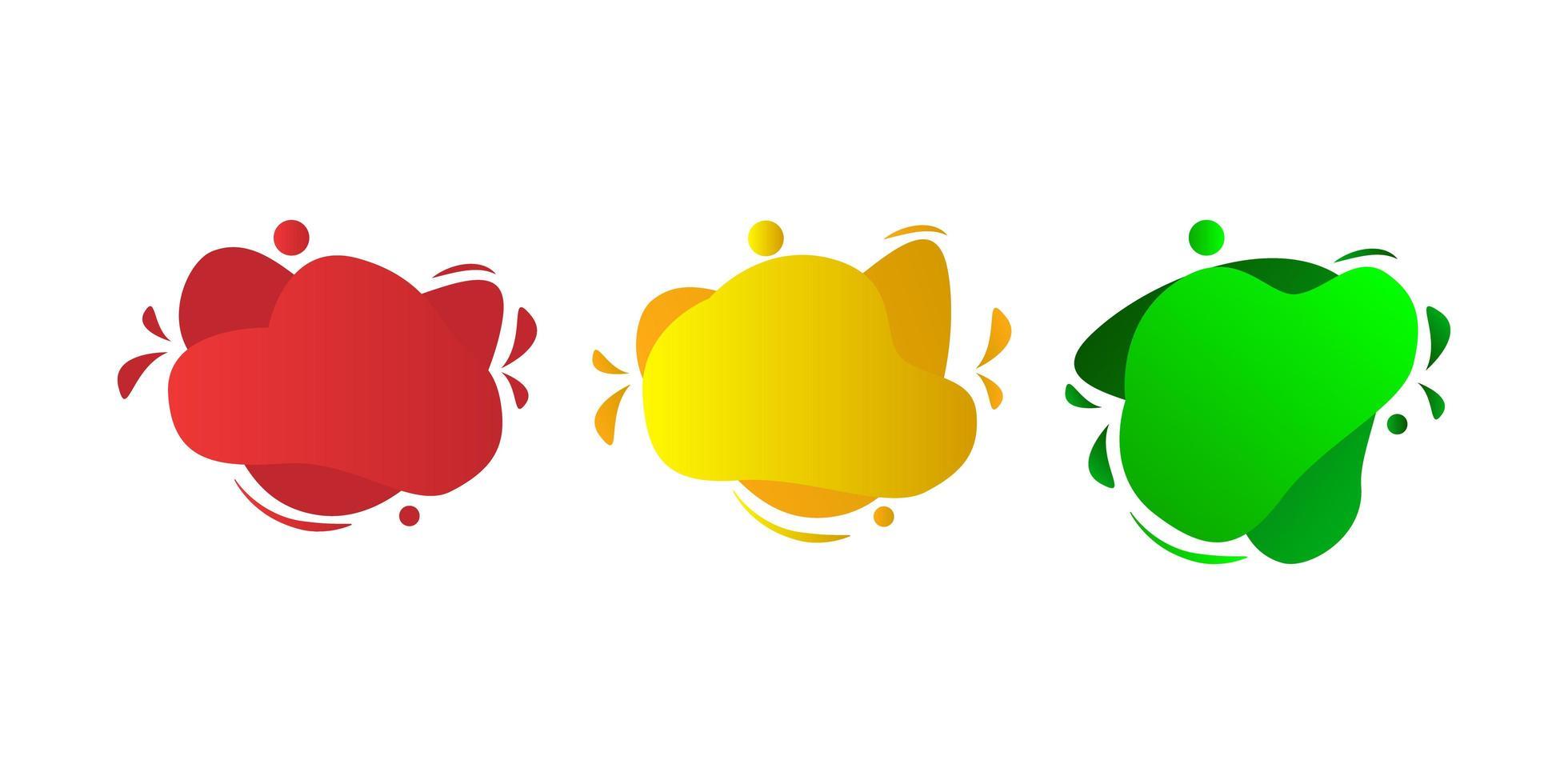set van abstracte splash iconen vector